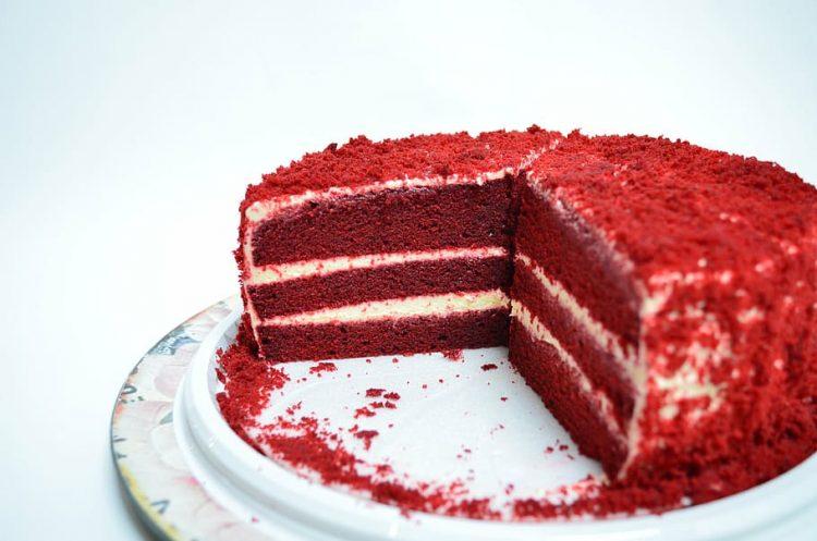 Red Velvet Canna Cake