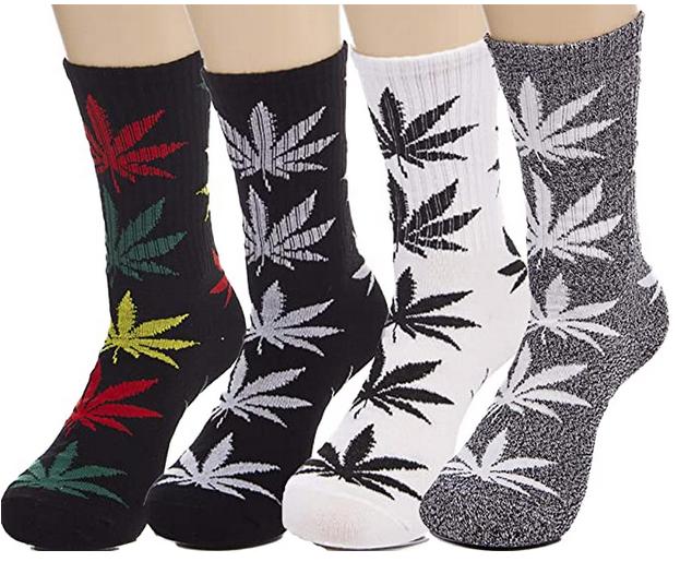 Unisex Marijuana Leaf Socks